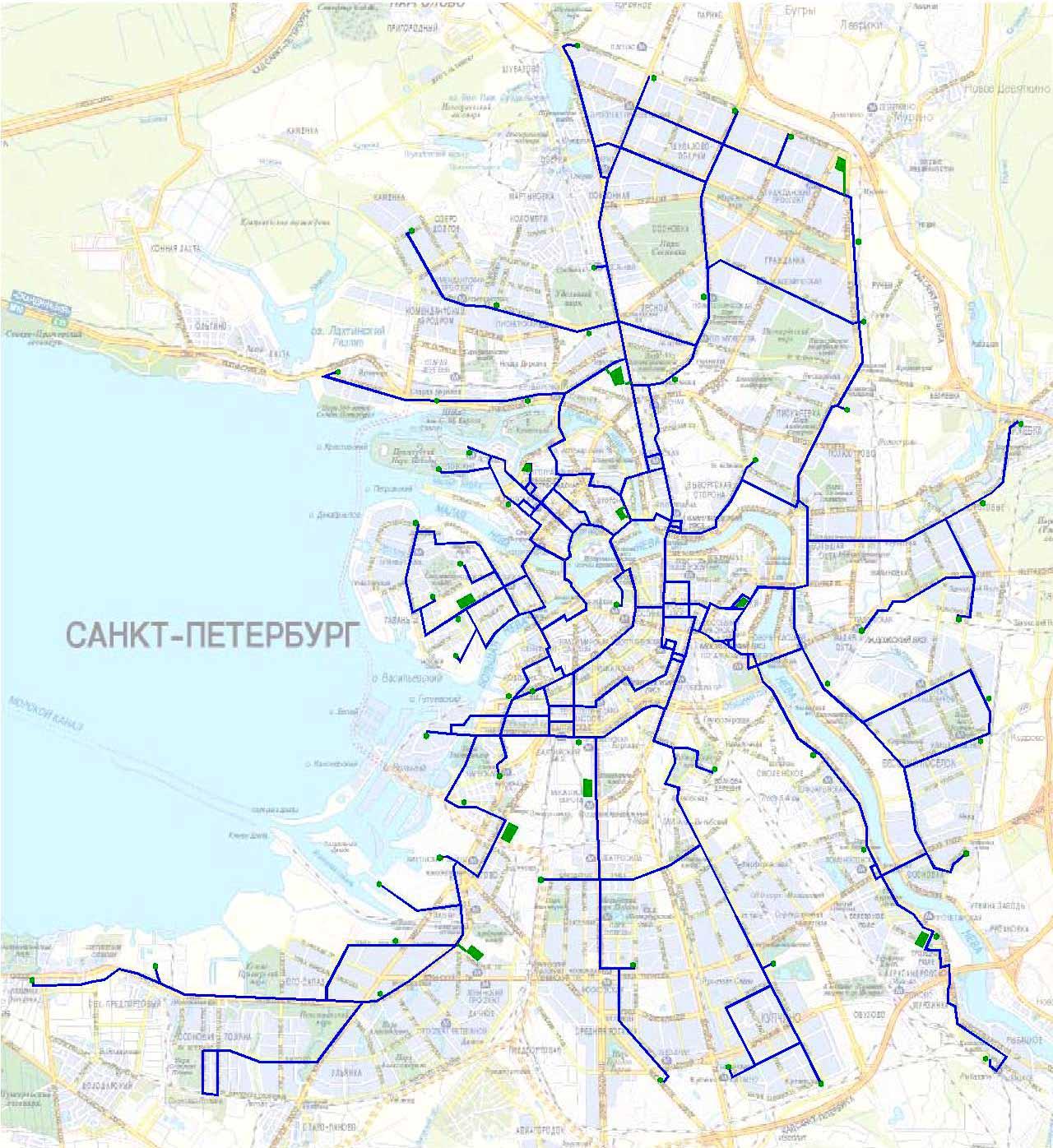 Схема скоростного трамвая в санкт-петербурге